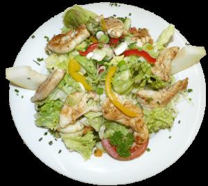 Salatteller mit Pute